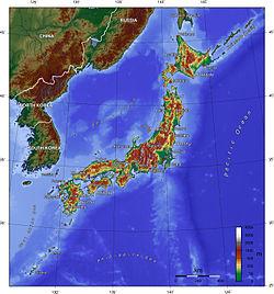 Japón topografía